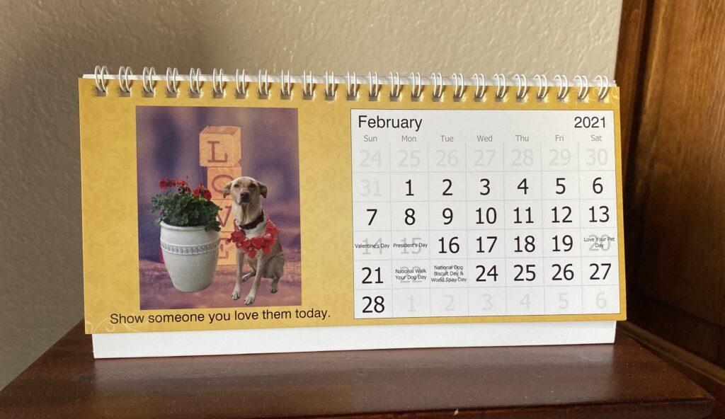 Larry's Words of Wisdom desk calendar.